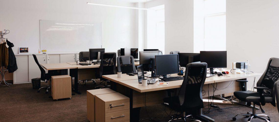 מבנה לאחר ניקיון משרדים